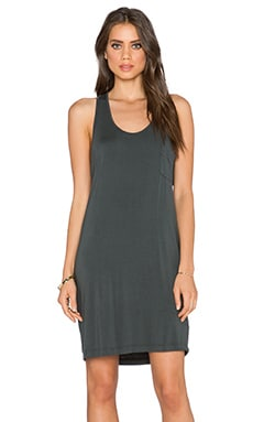 LA Made Scoop Neck Racerback Dress in Raven