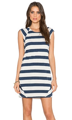 LA Made Ray Dress in Navy & Natural