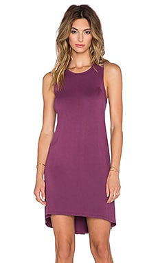 LA Made Allie Hi-Lo Dress in Aubergine