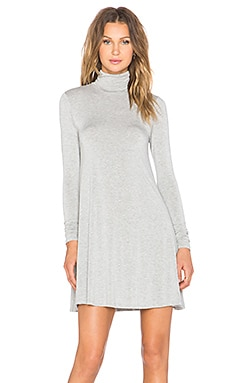 Penny Turtleneck Dress in Heather Grey