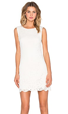 LA Made Flower Flange Dress in Cream