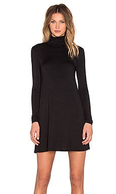 LA Made Penny Turtleneck Dress in Black