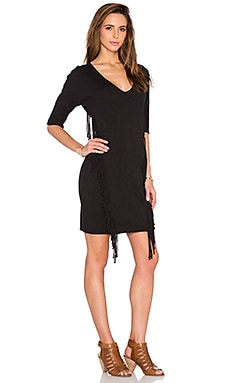 Levy 3/4 Sleeve Dress en Noir