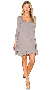 Lily Scoop Dress in Peppercorn