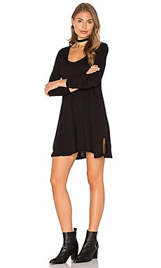 Lily Scoop Dress en Noir