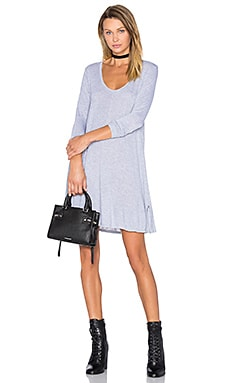Lily Scoop Dress en Gris Chiné