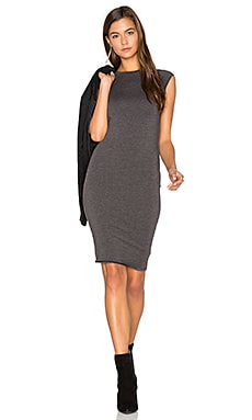 Obi Dress in Anthracite