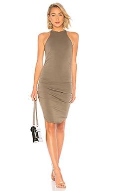 Фото - Платье kravitz - LA Made оливкового цвета