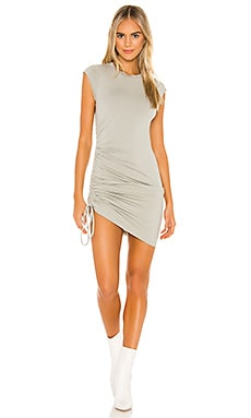 Indie Side Ruched Dress LA Made $84