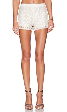 LA Made Mayra Short in Cream & Gold