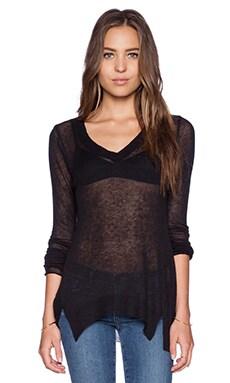 LA Made Saddie V Neck Sweater in Black