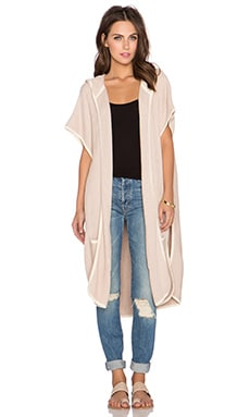 LA Made Eva Piped Cardigan in Cedar & Cream