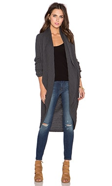 LA Made Elle Cardigan in Charcoal