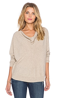 LA Made Liberty Cowl Neck Sweater in Oatmeal