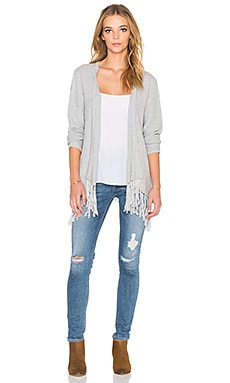 LA Made Megan Fringe Cardigan in Fennel