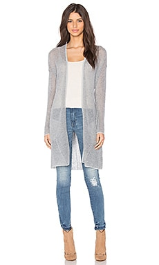 LA Made Cameron Cardigan in Glacier Grey & Dark Heather Grey