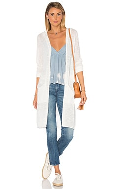 LA Made Tracy Hood Cardigan in Egret