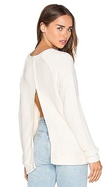 Eve Zip Back Sweater en Naturel