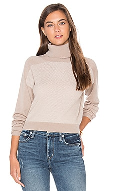 Trish Cropped Sweater in Camel Combo