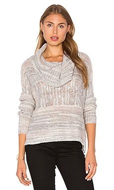 Jody Cowl Neck Sweater en Gris Chiné