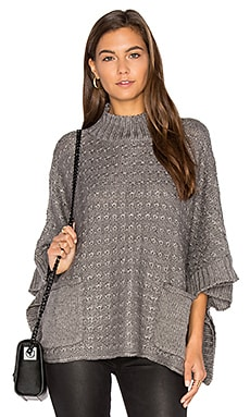 Lennox Poncho in Charcoal Heather Grey