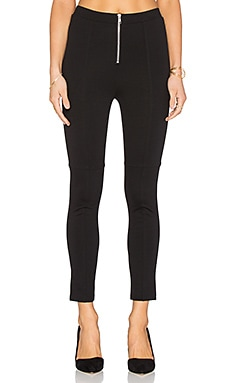 LA Made Ponte Fiona Zip Front Legging en Noir