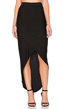 LA Made Harlan Tulip Skirt in Black
