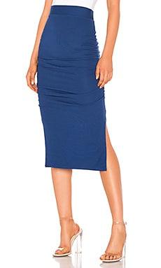 Gathered Midi Skirt LA Made $84