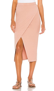 Overlap Midi Skirt LA Made $92