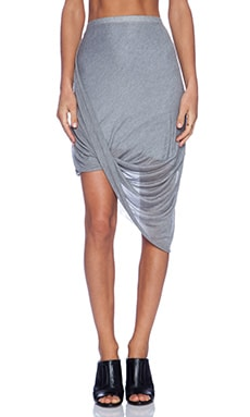 La Made Layla Drape Skirt in Heather Grey