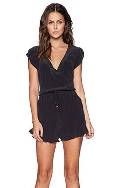 LA Made Alex Romper in Black