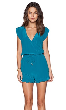 LA Made Alex Romper in Capri Breeze