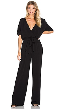 Christy Belted Jumpsuit in Black