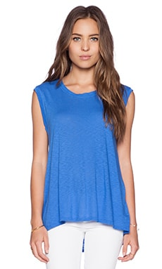 LA Made Slub Jersey Muscle Tee in Azul