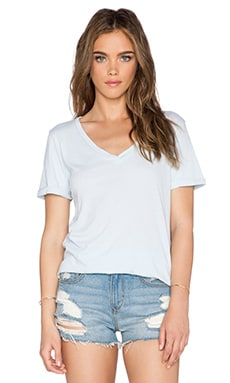 LA Made Staple V Neck Tee in Zen
