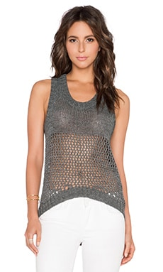 LA Made Fifi Sweater Tank in Steel
