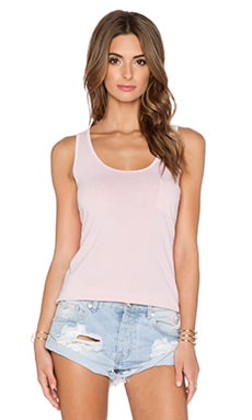 LA Made Boyfriend Tank in Peachy