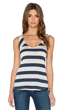 LA Made Emmy Tank in Navy & Natural