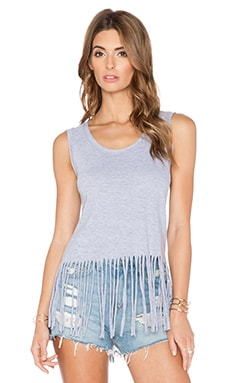 LA Made Fringe Tank in Heather Grey