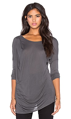 LA Made Micromodal Remi Long Sleeve Top in Raven