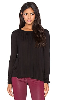 LA Made Micromodal Isabel Top in Black