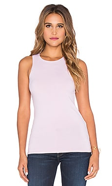 LA Made Lycra Jersey Eli Tank in Pink Ice
