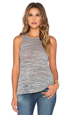 LA Made Cozy Slub Spencer Tank in Stone