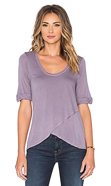 LA Made Micromodal Tulip Tee in Smokey Lavender