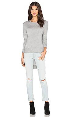 Tara Hi Lo Top in Heather Grey