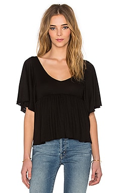 Lola V-Neck Top en Noir