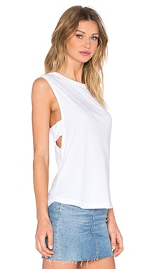 LA Made Venice Muscle Tee in White