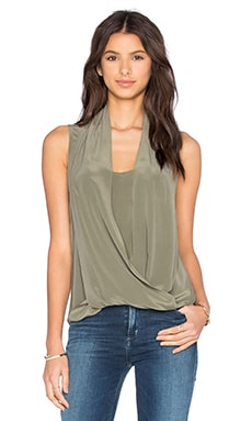 Shayla Drape Tank in Dusty Olive