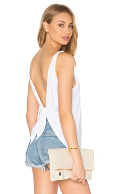 LA Made Alex Tie Back Tank in White