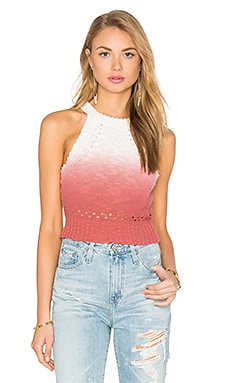 Darma Crop Tank in Cayon Rose